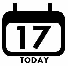 today's date icon
